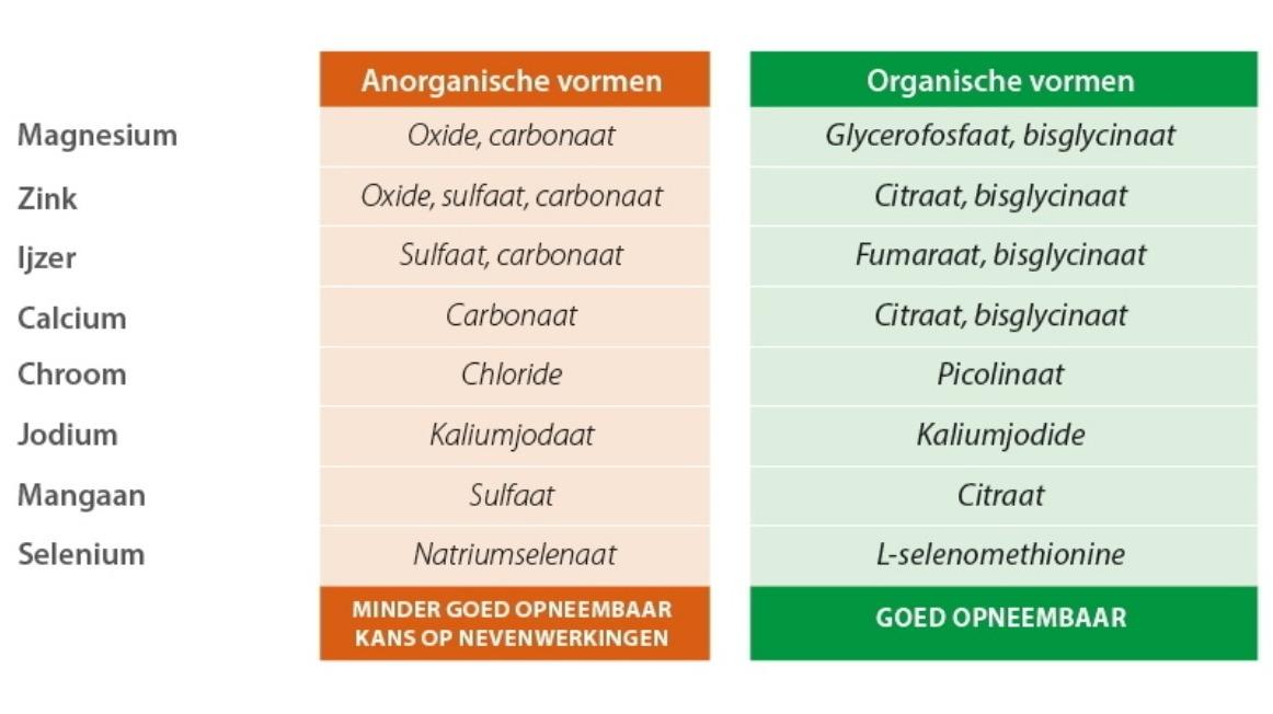 Anorganische versus Organische vormen